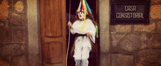 Masked teens chase children in centuries-old Spanish festival
