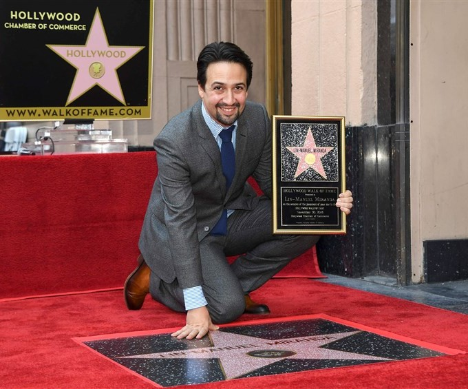 Congratulations to Lin Manuel Miranda on his star on the Hollywood Walk of Fame