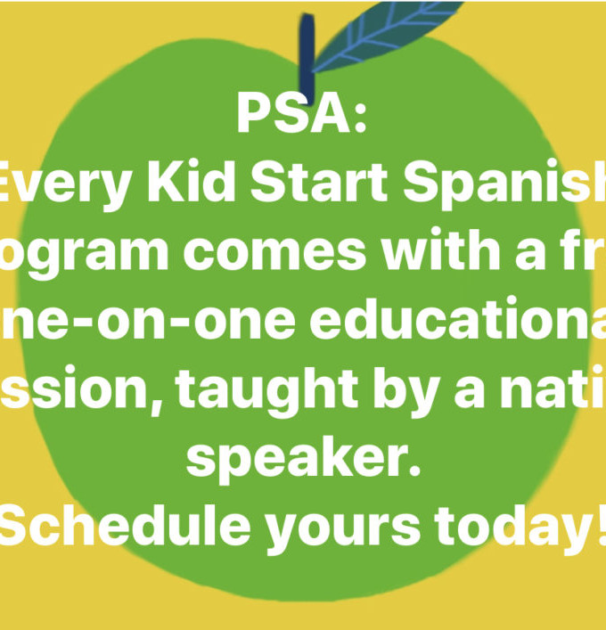 PSA: every Kid Start Program comes with a free one-on-one session!